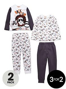 mini-v-by-very-boys-2-pack-animal-rock-star-pyjamas
