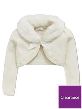 mini-v-by-very-girls-faux-fur-collar-cardigan