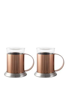 la-cafetiere-set-of-2-copper-glass-cups