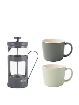 la-cafetiere-8-cup-monaco-cafetiere-amp-2-cup-set
