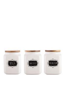 Creative Tops Stir It Uptrio Of Tea Coffee &Amp Sugar Storage Jars