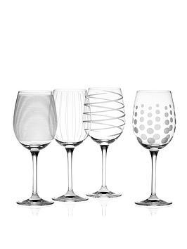 Creative Tops Mikasa White Wine Glasses Set Of 4