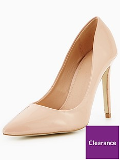8d6d156fb499 V by Very Chic Pointed Court Shoe - Nude