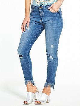 V By Very Petite Fray Hem Skinny Jean