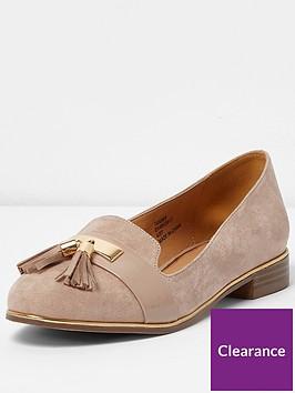 river-island-river-islandnbspnude-tassle-slipper-shoe