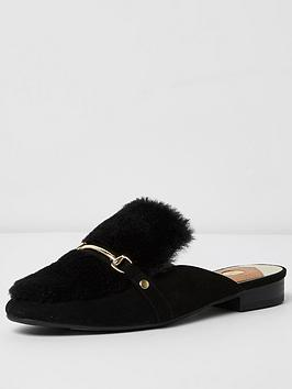 river-island-black-backless-loafer