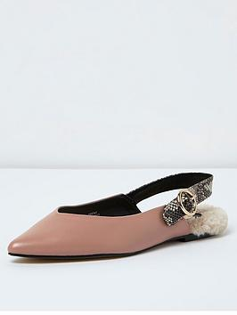 river-island-nude-faux-fur-sock-sling-slipper-shoe