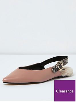 river-island-nude-faux-fur-sock-sling-slipper-shoe