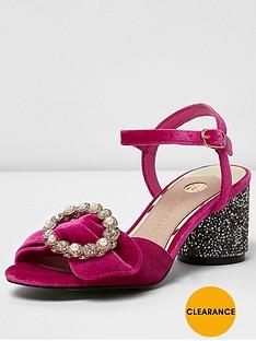 river-island-river-island-pink-velvet-rouge-block-heel-sandal