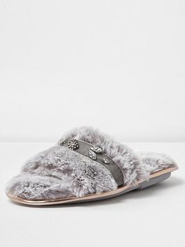 river-island-diamante-open-toe-slipper