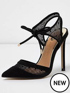 river-island-black-fabric-court-shoe