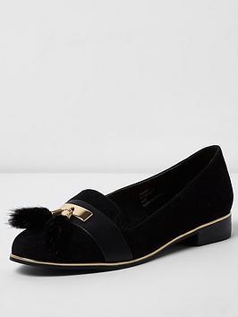 river-island-black-rat-slipper-shoe