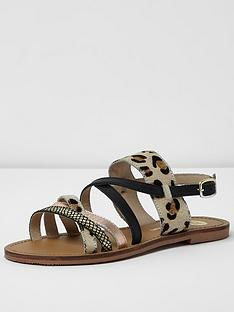 river-island-river-island-leopard-mix-simple-strap-flat-sandal