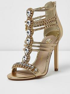 river-island-gold-caged-phantom-sandal