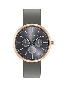ted-baker-grey-multi-dial-rose-tone-case-grey-silicone-strap-mens-watch