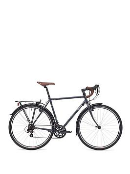 Adventure Flat White Unisex Touring Bike 60Cm Frame