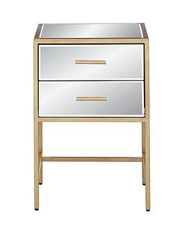 ideal-home-gold-ready-assembled-2-drawer-mirror-and-metal-bedside-chest
