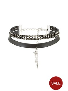 v-by-very-star-and-double-layer-jewel-choker
