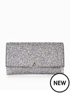 v-by-very-metal-v-bar-glitter-clutch-bag