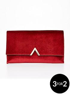 v-by-very-metal-v-bar-sparkle-velvet-clutch-bag