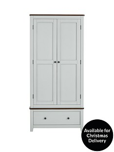 luxe-collection-newport-painted-2-door-1-drawer-wardrobe