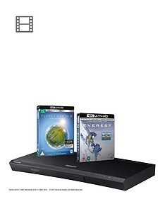 samsung-ubd-m9000xu-ultra-hd-blu-ray-player-auto-hdrnbsp--includes-everest-and-planet-earth-ii-on-4k-ultra-hd-blu-ray-disc-in-the-box