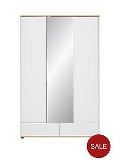 alandranbsp3-door-2-drawer-mirrored-wardrobe