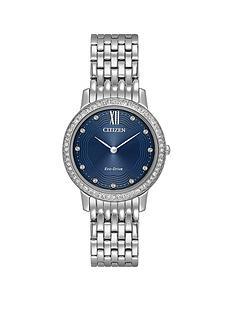 citizen-citizen-eco-drive-blue-dial-swarovskireg-crystal-stainless-steel-bracelet-ladies-watch