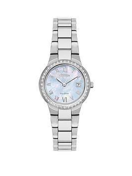 citizen-citizen-eco-drive-mother-of-pearl-dial-swarovski-crystal-stainless-steel-bracelet-ladies-watch