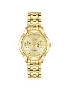 citizen-citizen-eco-drive-gold-tone-multi-dial-gold-tone-bracelet-ladies-watch