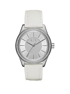 armani-exchange-silver-tone-dial-leather-strap-ladies-watch
