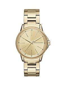 armani-exchange-gold-tone-dial-stainless-steel-bracelet-ladies-watch