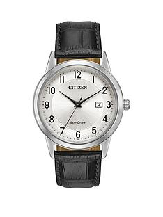 citizen-citizen-eco-drive-silver-tone-date-dial-black-leather-strap-mens-watch