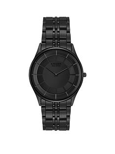 citizen-eco-drive-stiletto-black-dial-black-ultra-slim-stainless-steel-bracelet-mens-watch