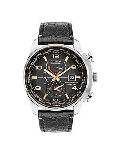 citizen-citizen-eco-drive-radio-controlled-black-dial-black-leather-strap-limited-edition-mens-watch
