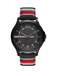 armani-exchange-armani-exchange-black-dial-fabric-stripe-strap-mens-watch
