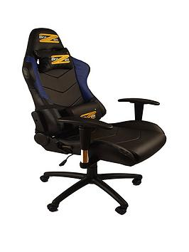 Brazen Shadow Pro Pc Gaming Chair Black And Blue