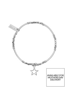 chlobo-sterling-silver-mini-noodle-cube-small-open-star-charm-bracelet