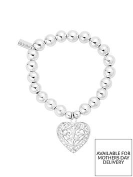 chlobo-sterling-silver-medium-ball-filigree-heart-bracelet