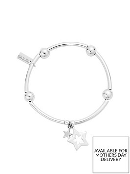chlobo-sterling-silver-noodle-ball-double-star-bracelet
