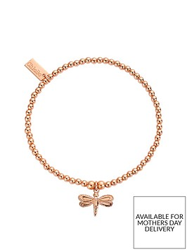chlobo-sterling-silver-rose-gold-plate-cute-charm-dragonfly-bracelet