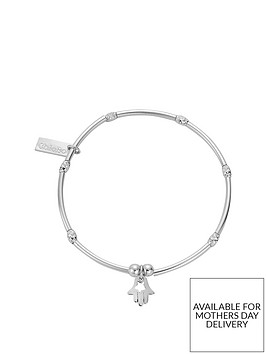 chlobo-sterling-silver-mini-noodle-sparkle-rice-didi-hamsa-hand-charm-bracelet