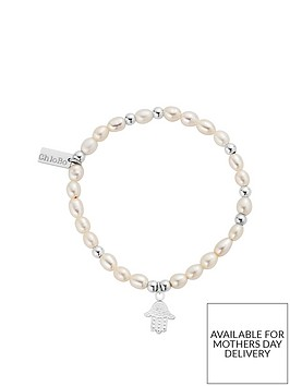chlobo-sterling-silver-mini-pearl-decorated-hamsa-hand-bracelet