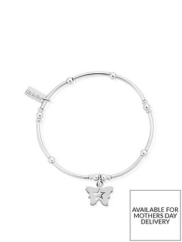 chlobo-sterling-silver-mini-noodle-ball-butterfly-bracelet