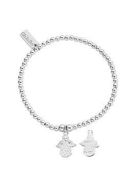 Chlobo Chlobo Sterling Silver Cute Charm Made For An Angel Bracelet