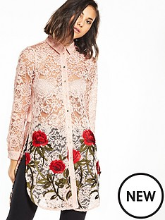 river-island-river-island-rose-embroidered-lace-longline-shirt