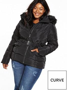 v-by-very-curve-short-padded-jacket