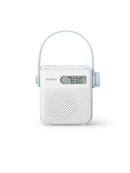Sony IcfS80 Splash Proof Shower Radio With Speaker  White