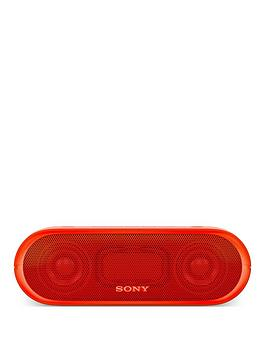 Sony SrsXb20 Portable Speaker With Extra Bass And Lighting  Red