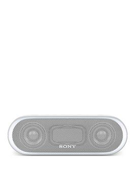 Sony SrsXb20 Portable Speaker With Extra Bass And Lighting  White